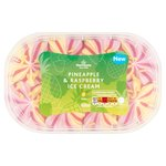 Morrisons Pineapple & Raspberry Ice Cream