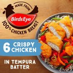 Birds Eye 6 Crispy Chicken In Tempura Batter