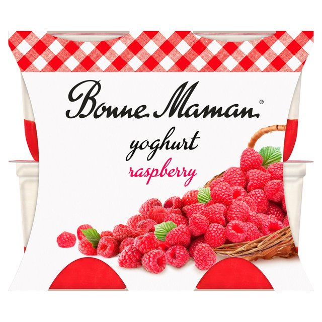 Bonne Maman Yoghurt With A Raspberry Layer