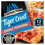 Chicago Town Tiger Crust Double Pepperoni Pizza