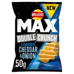 Walkers Max Double Crunch Loaded Cheddar & Onion