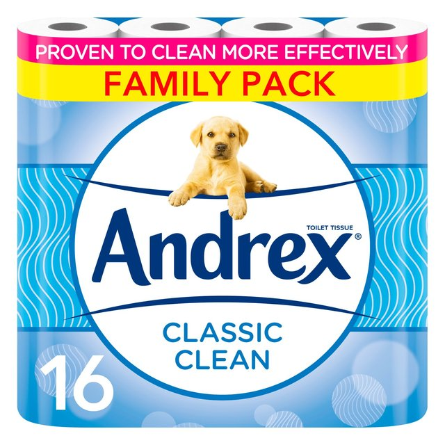 Andrex Classic Clean Family Pack 16 Rolls