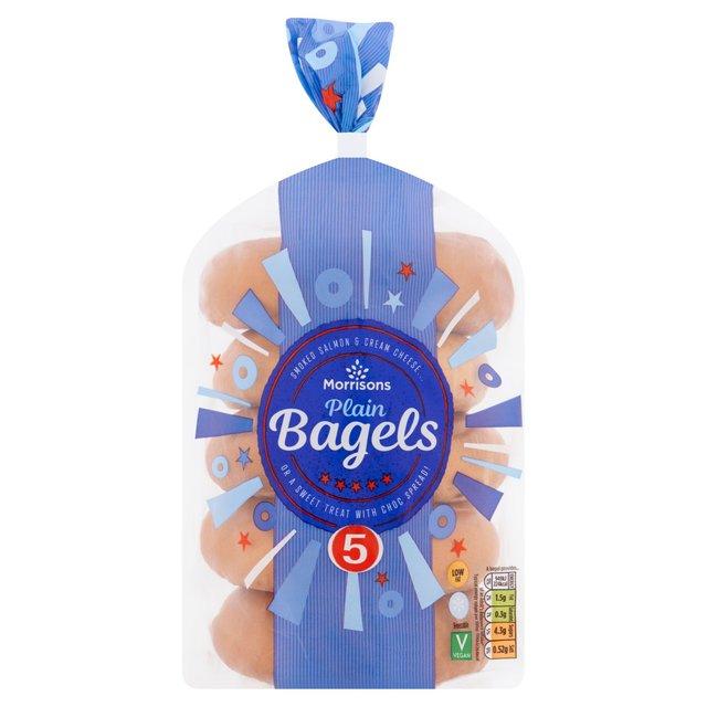 Morrisons  Plain Bagels