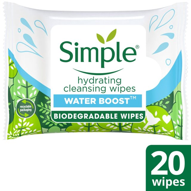 Simple Hydrating Cleansing Wipes 20 Wipes