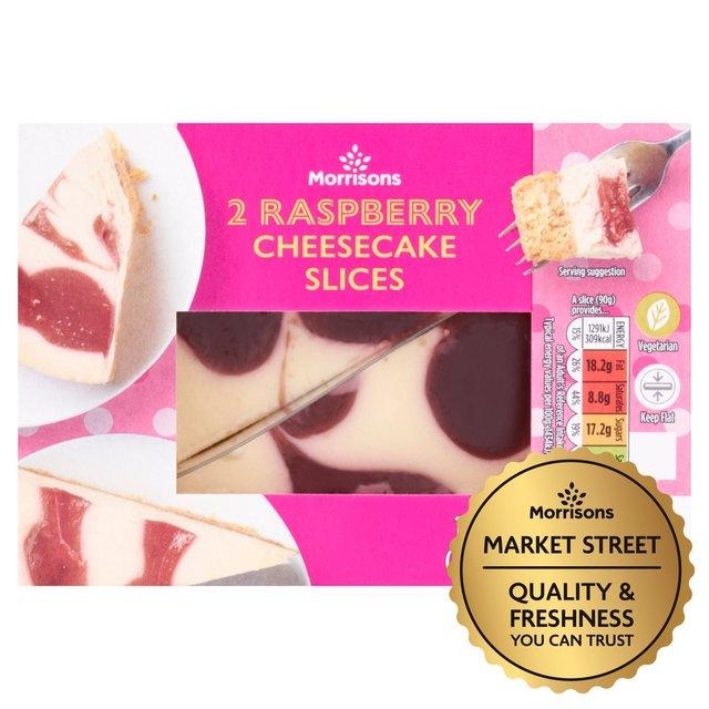 Market Street Raspberry Cheesecake Wedges