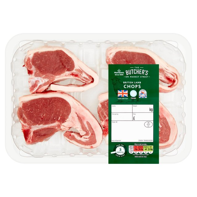 Morrisons British Spring Lamb Loin Chops