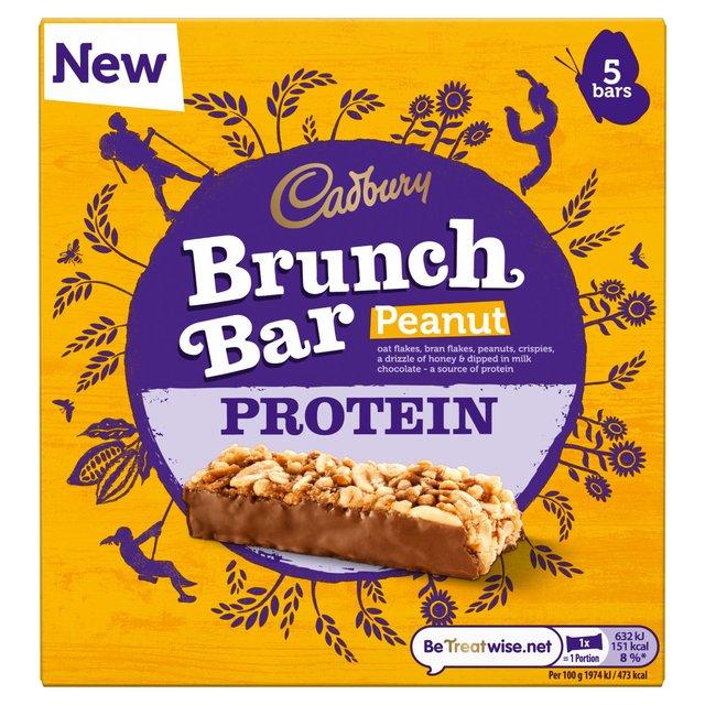 Cadbury Brunch Bar Peanut Protein 5 Bars