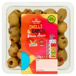 Morrisons Green Olives With Chilli & Garlic