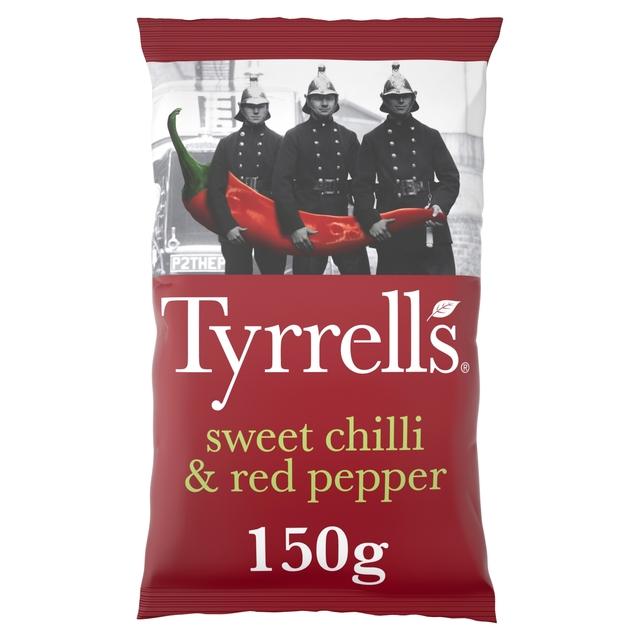 Tyrrells Sweet Chilli & Red Pepper Sharing Crisps 150g