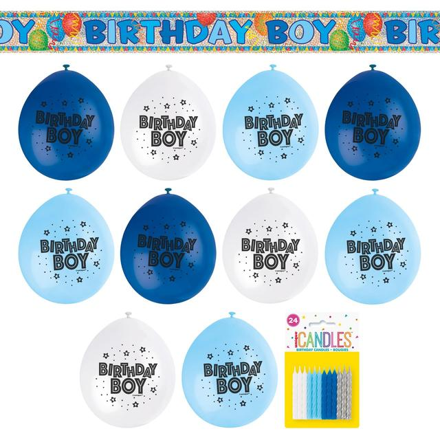 Blue Birthday Boy Party Kit