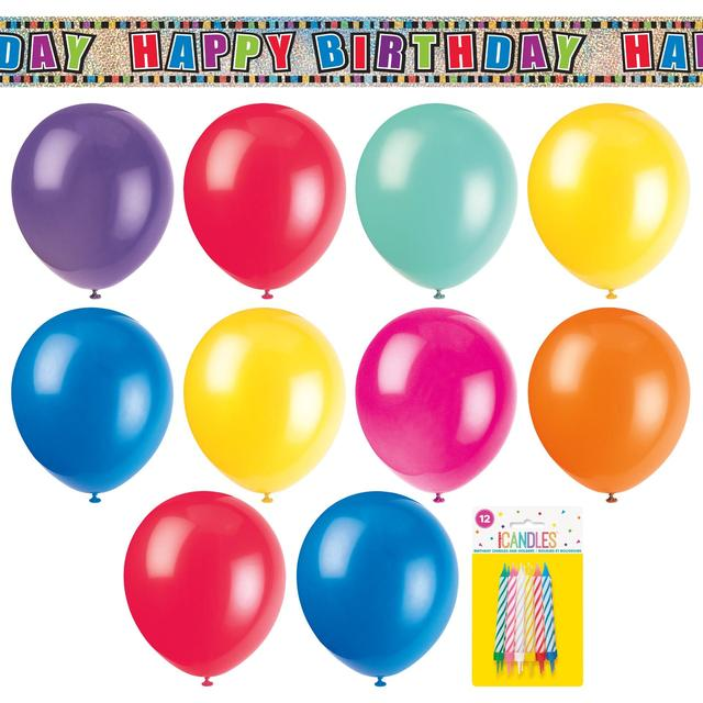 Multicoloured Birthday Party Kit