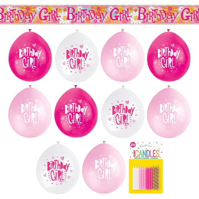 Pink Birthday Party Kit