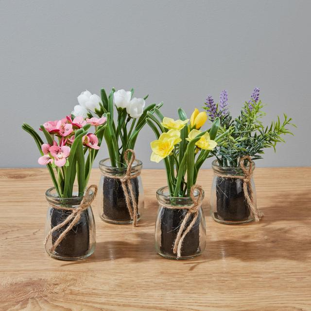 Morrisons Assorted Flowers In Glass Pots