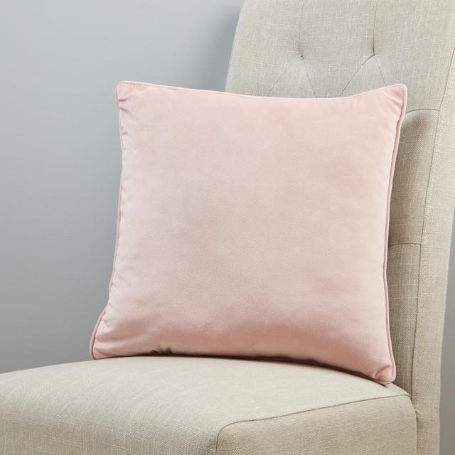 Morrisons Velvet Cushion Blush & Silver 40Cm X 40Cm