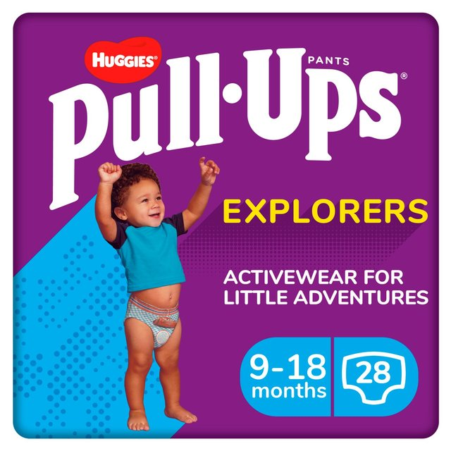 Huggies Pull Ups Explorers Boys 9 - 18 Months Nappies Size 3 & Size 4