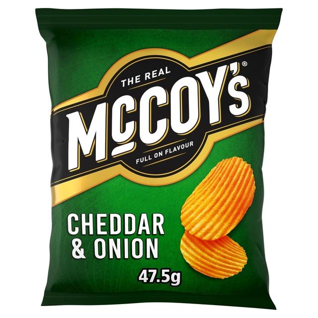 McCoy's Cheddar & Onion Crisps 47.5g