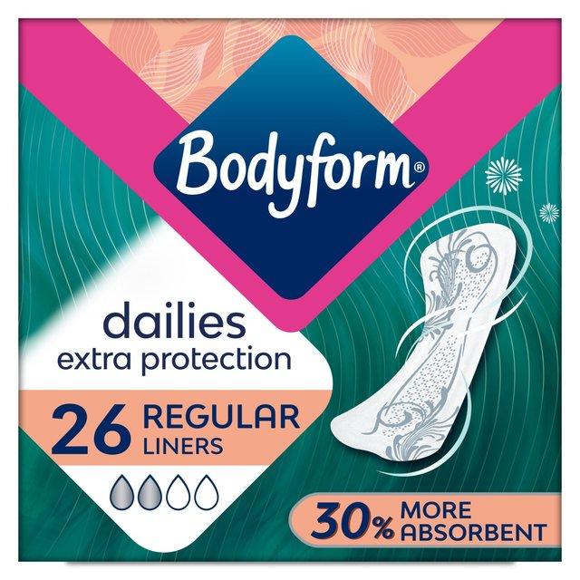 Bodyform Dailies Extra Protection 26 Regular Liners