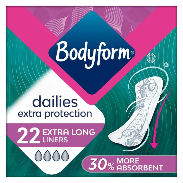 Bodyform Dailies Extra Protection 22 Extra Long Liners
