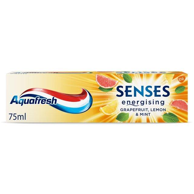 Aquafresh Senses Energising Grapefruit, Lemon & Mint Toothpaste