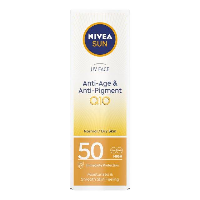Nivea Sun Uv Face Q10 Anti-Age & Anti-Pigments 50 Sun Lotion