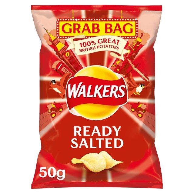 MORRISONS > Food Cupboard > Walkers Ready Salted Grab Bag