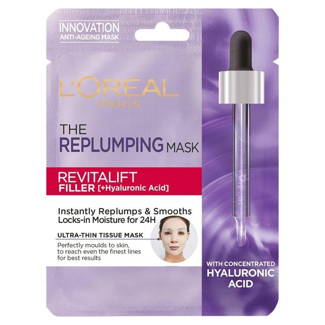 L'Oreal The Replumping Mask Revitalift Filler Tissue Mask