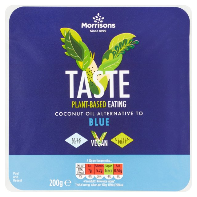 Morrisons Free From Blue Style Vegan Alternative To Cheese