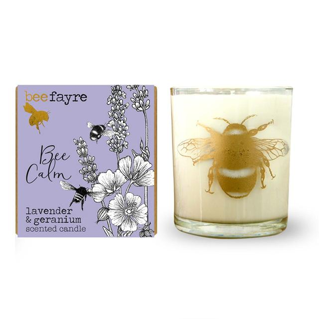 Beefayre Bee Calm Lavender & Geranium large scented candle