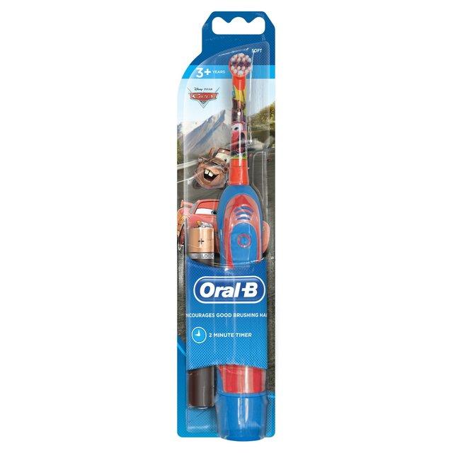 Oral B Power Kids Battery Electric Toothbrush Disney Cars & Princess