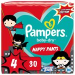 Pampers Baby-Dry Superhero Nappy Pants Size 4 30 per pack