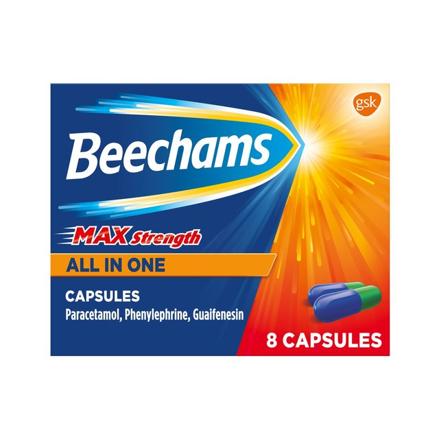Beechams Max Strength All In One 8 Capsules