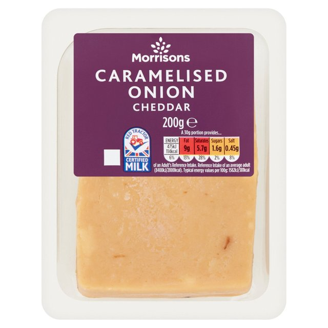 Morrisons Cheddar Wensleydale Caramelised Onion