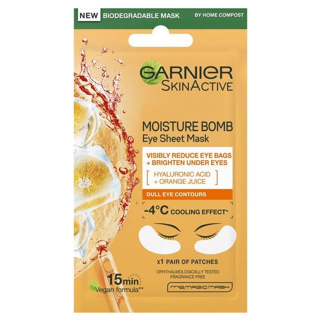 Garnier Moisture Bomb Orange Eye Tissue Mask