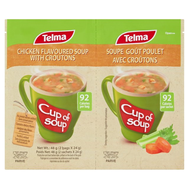 Telma Chicken Flavour With Croutons Cup Of Soup