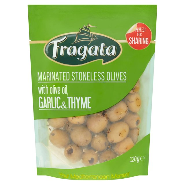 Fragata Marinated Stoneless Olives With Olive Oil, Garlic & Thyme 120G