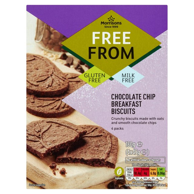 Morrisons Free From Chocolate Chip Breakfast Biscuits