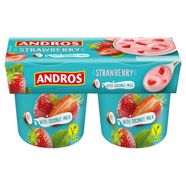 Andros Strawberry Coconut Milk Free From Yoghurt