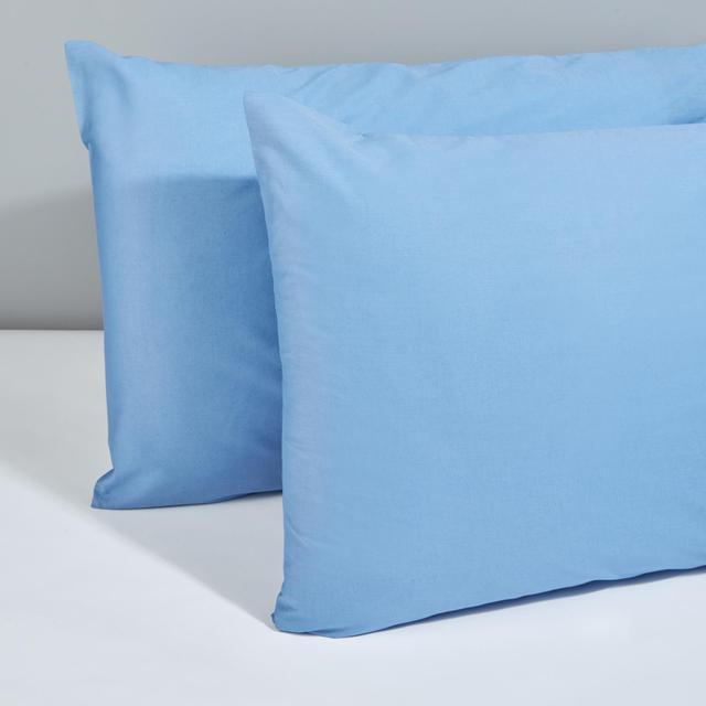 Morrisons 100% Cotton Housewife Pillow Cases Denim Blue 2Pk