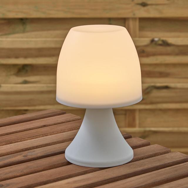 Morrisons White Battery Table Lamp
