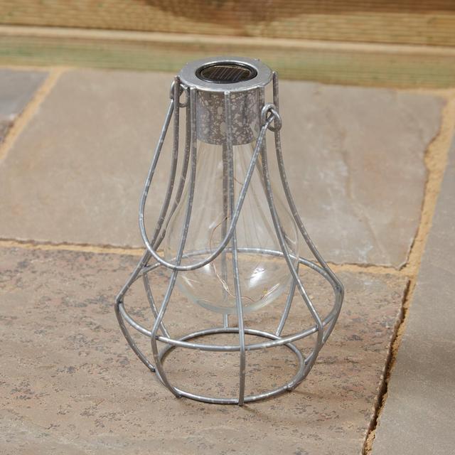 Morrisons Caged Lightbulb Lantern