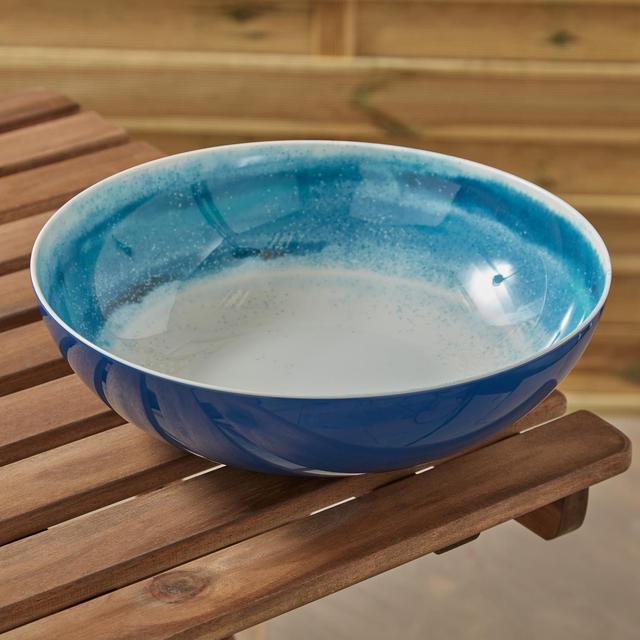 Morrisons Blue Ripple Effect Salad Bowl Large