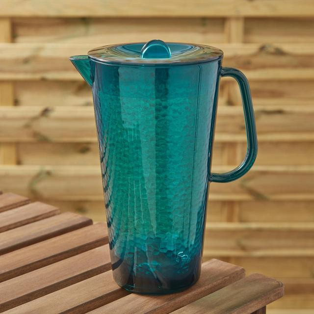 Morrisons Blue Hammered Effect Acrylic Pitcher