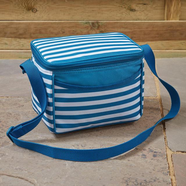 Morrisons Blue & White Stripe Insulated Lunch Bag