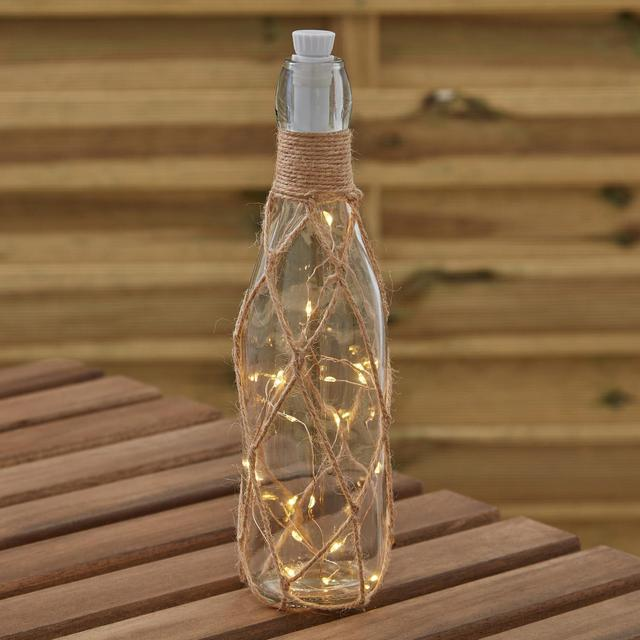Morrisons Small Battery Powered Lit Jute Bottle