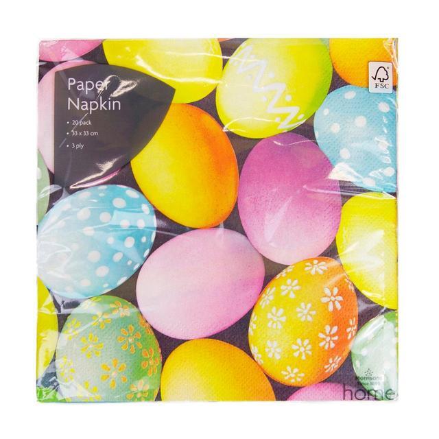 Morrisons Photographic Easter Eggs Napkins
