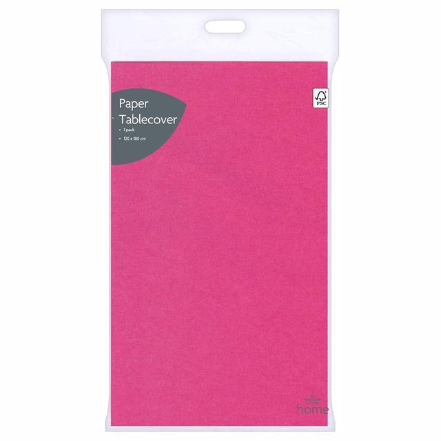 Morrisons Pink Tablecover 120Cm X 180Cm