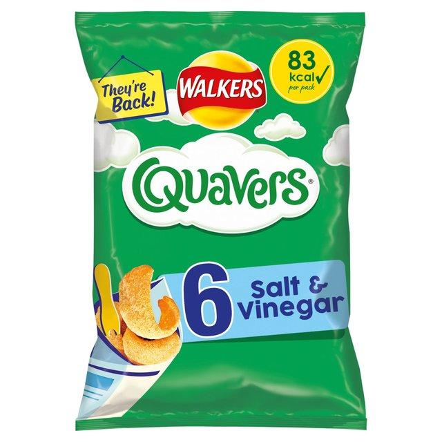 MORRISONS > Food Cupboard > Walkers Quavers Salt & Vinegar