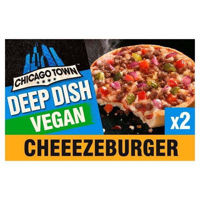 Chicago Town Deep Dish Vegan Cheeseburger Pizzas