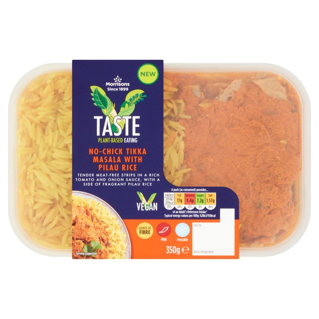 Morrisons V Taste Vegan Tikka Masala With Pilau Rice