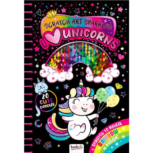 Curious Universe I Love Unicorns Scratch Art